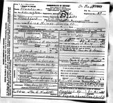 Alice Hines Walcutt - death certificate