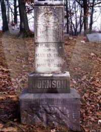 Michael Johnson - grave marker
