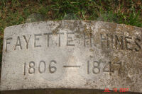 Fayette Hines - grave marker
