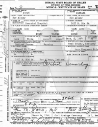 Isaac T. Hines - death certificate