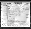 Lucy (Forsythe) Hall - death certificate