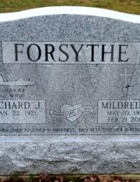 Richard & Mildred Forsythe - grave marker