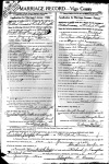 Richard & Mildred Forsythe - marriage certificate