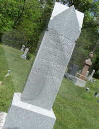 Rebecca (Forsythe) Rhodes - grave marker
