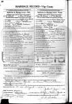 Anna Adams & C.M.Sparks - marriage certificate