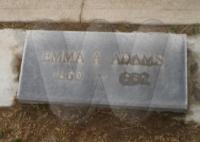 Emma (Forsythe) Adams - grave marker