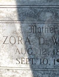 Zora Snedeker White - grave marker