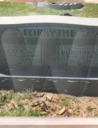 Glen Forsythe - grave marker