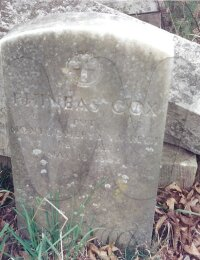 Phineas Cox - grave marker