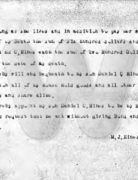 Martha J. Hines - will #2
