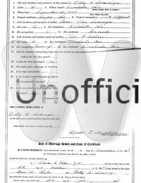 Glenn & Betty (Swearingen) Hester - marriage certificate