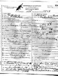 George Britton Brewer - death certificate