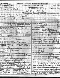 Samuel Shull - death certificate