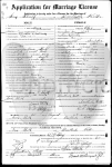 Darthula & Samuel Shull - marriage certificate