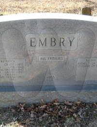 William Grancer Embry - grave marker