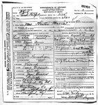 Hester (Gidcomb) Morris - death certificate