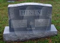 William & Ida (Kitchen) Hines - grave marker