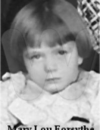 Mary Lou Preston as a child
